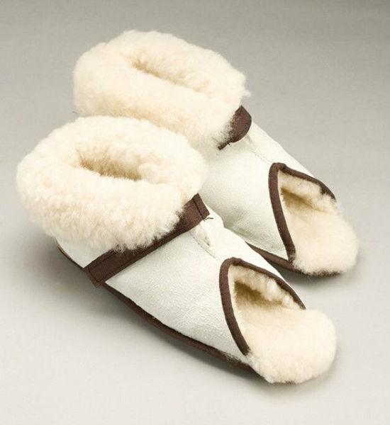 Picture of XLarge - Open Toe Slipper, Medical Sheepskin